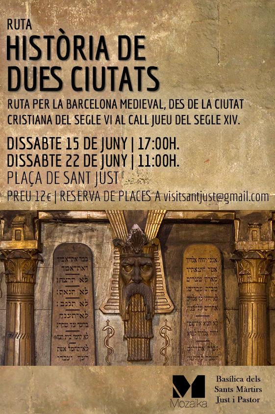 Ruta per la Barcelona Medieval, des de la ciutat cristiana del segles VI al Call Jueu del segle XIV.